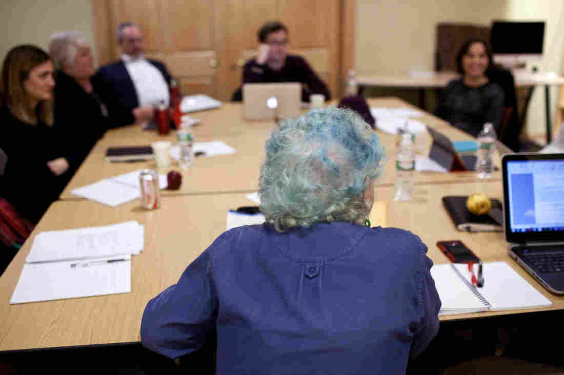 Bernays teaches a fiction writing class to Nieman Foundation fellows at Harvard University in Cambridge, Mass. It was a writing student who inspired her to try a bold new hair color.