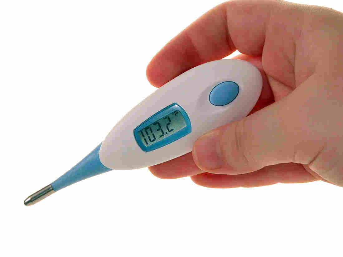 Measuring skin temperature is less accurate than internal readings, a review finds.
