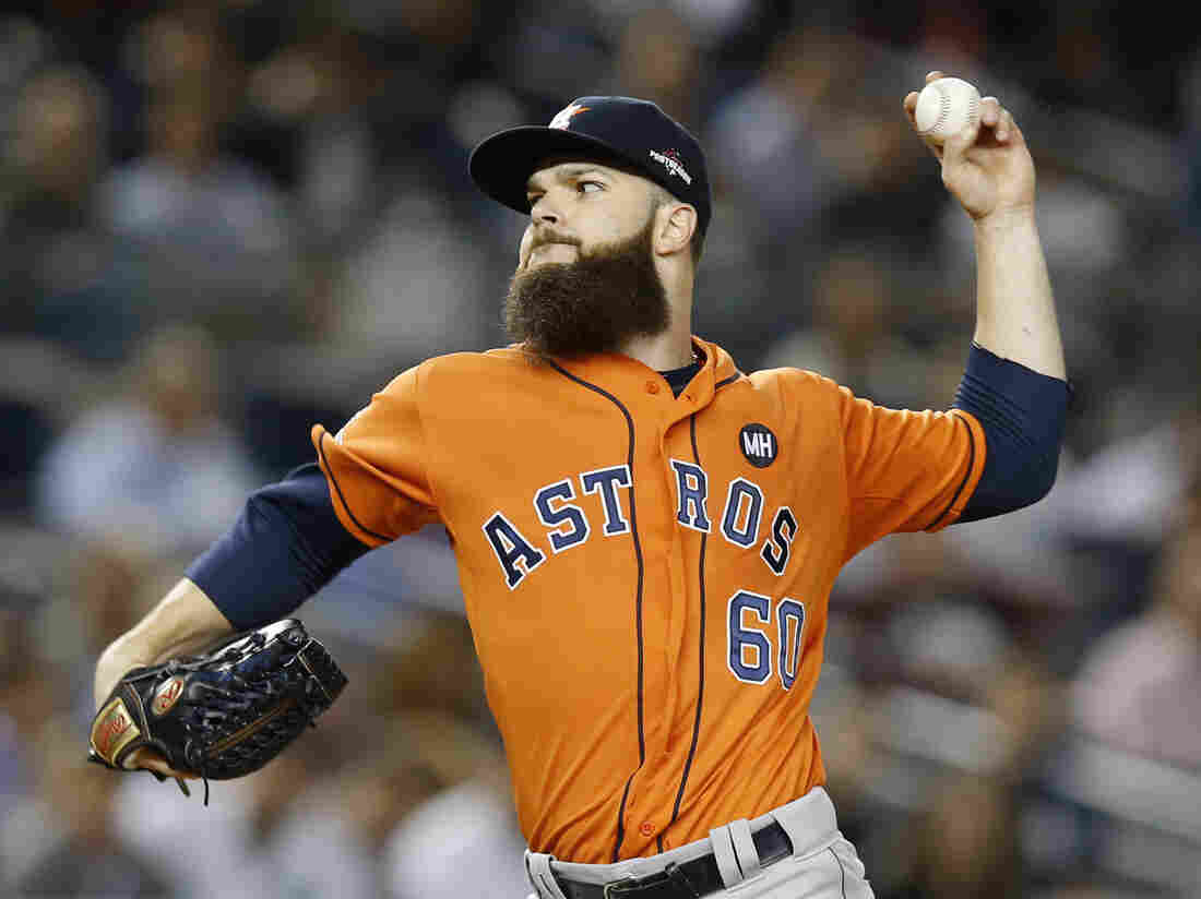 Houston Astros starting pitcher Dallas Keuchel pitches in the first inning of the American League wild card game against the New York Yankees at Yankee Stadium on Oct. 6.