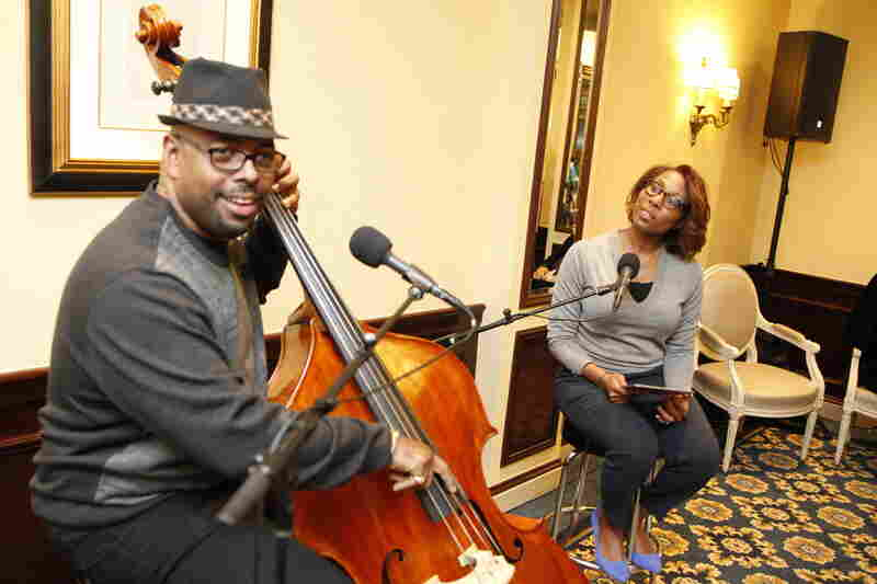 Christian McBride speaks with Audie Cornish at the Willard InterContinental Hotel in Washington, D.C.