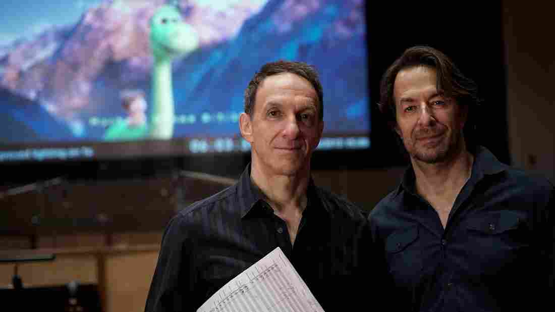"""Brothers Mychael and Jeff Danna composed the music for the new Pixar film The Good Dinosaur. """"The entire process of making a music score is additive, so every little detail becomes part of the whole,"""" Mychael says."""