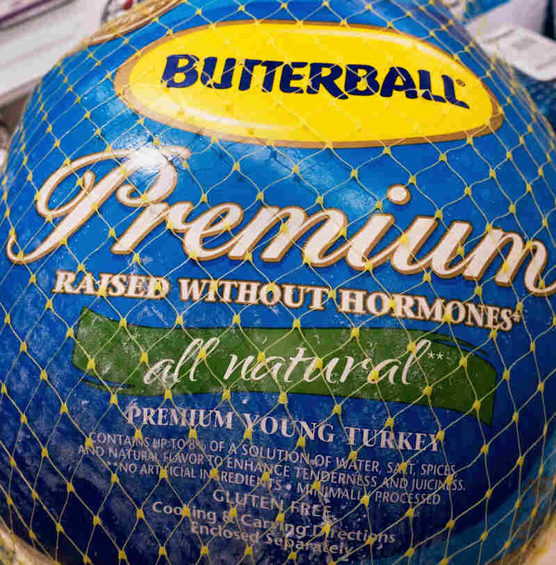 """A Butterball turkey for sale in November 2014, in Centreville, Va. Terms like """"premium"""" and """"raised without hormones"""" tell you little about the quality of the turkey or how it was raised."""