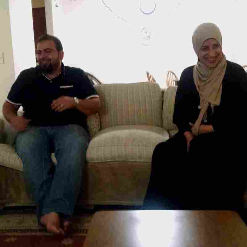 Syrian refugees Fahed and Khuloud Nakshou recently arrived in Nashville from a refugee camp in Jordan.