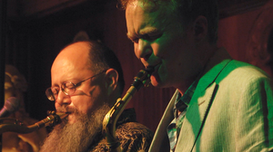 Cameron Pfiffner (left) and Pat Mallinger of Sabertooth perform at the Green Mill in Chicago, Ill.