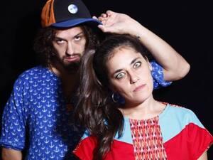 DJ Ramiro Jota with Argentine MC Sara Hebe.