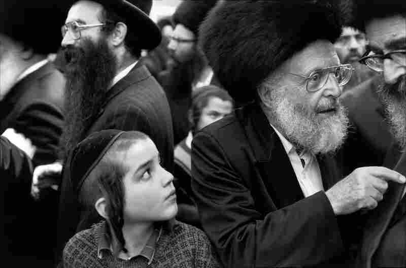 Young and old Hasidic Jews congregate in Jerusalem.