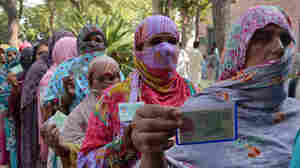 Pakistani women queue to cast their ballots last month at a polling station during local government elections in Lahore, one of the country's biggest cities. In other areas, local tradition can prevent women from voting.