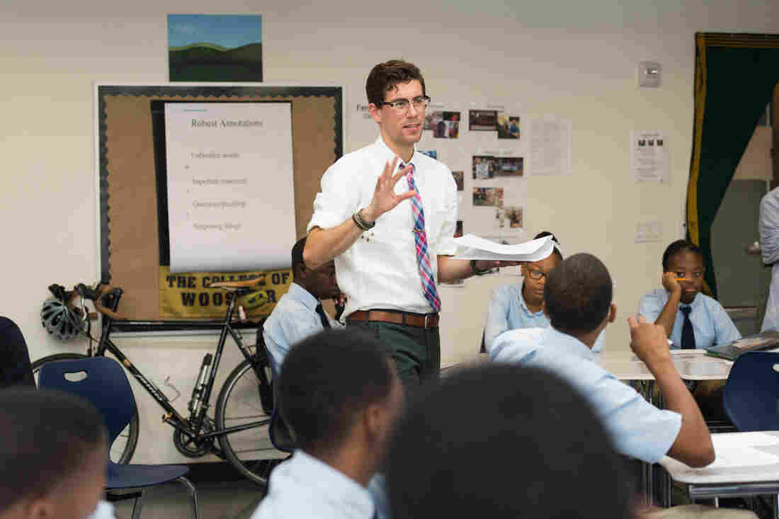 Taylor Delhagen is one of the founding teachers at Brooklyn Ascend High School.