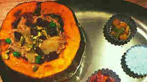 Preeti Mistry's biriyani-stuffed pumpkin.