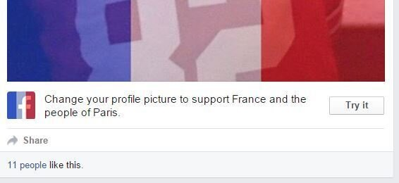 MemeOfTheWeek: French Flags On Facebook : NPR