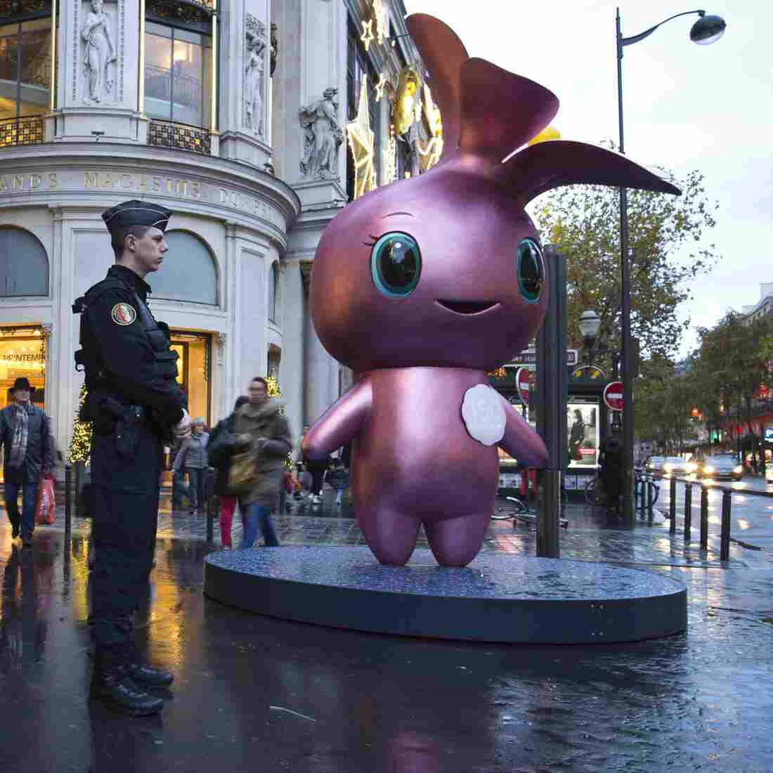 In Paris, Security Checks For Shoppers — And Children