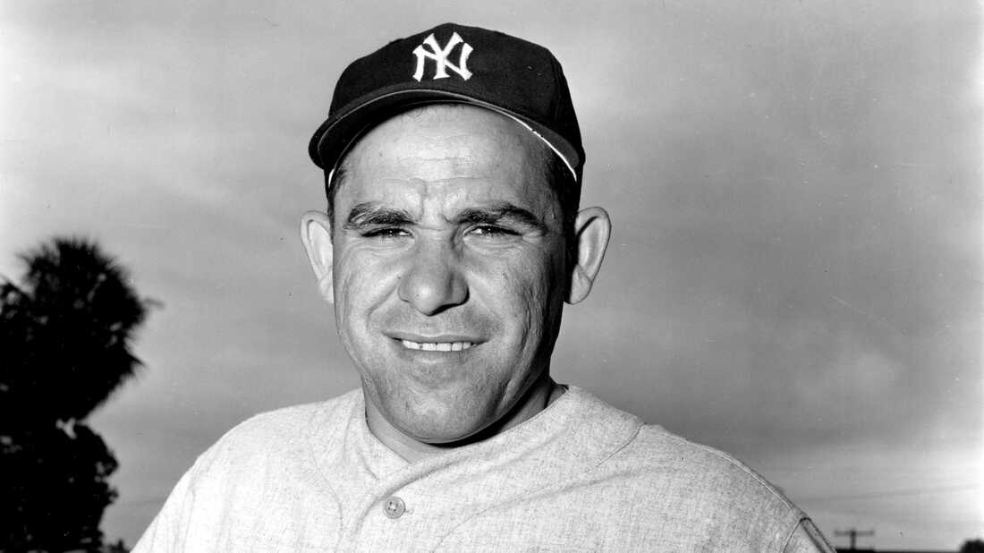 Yogi Berra, during spring training in 1954, at the height of his career.
