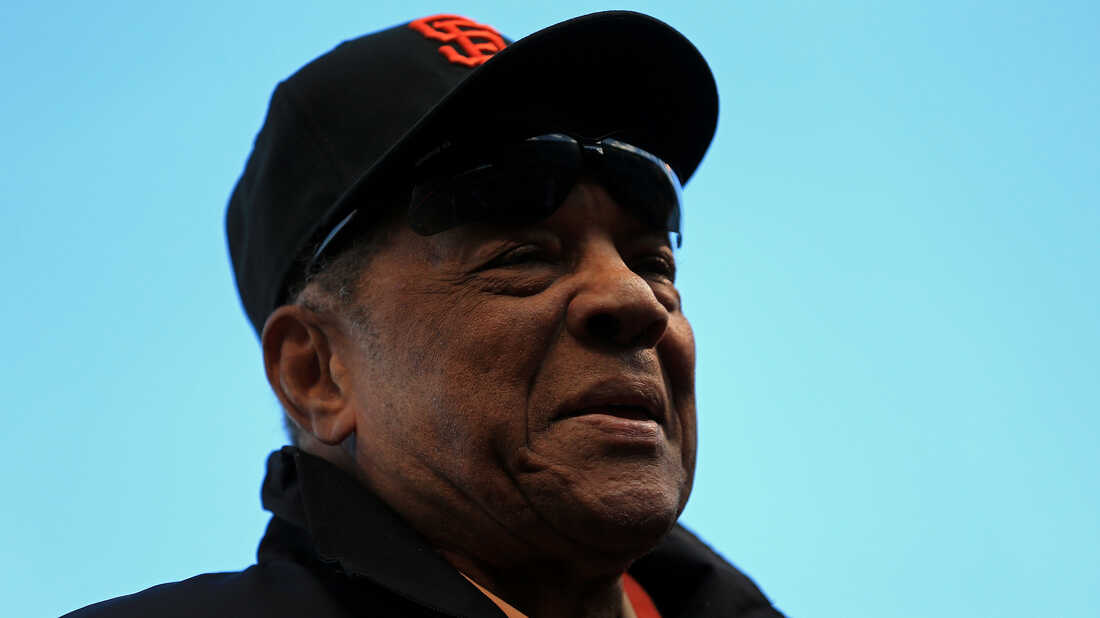 Willie Mays, on the field before a World Series game in San Francisco, in 2012.