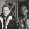 "Macklemore (left) is joined by soul singer Leon Bridges on the song, ""Kevin."""