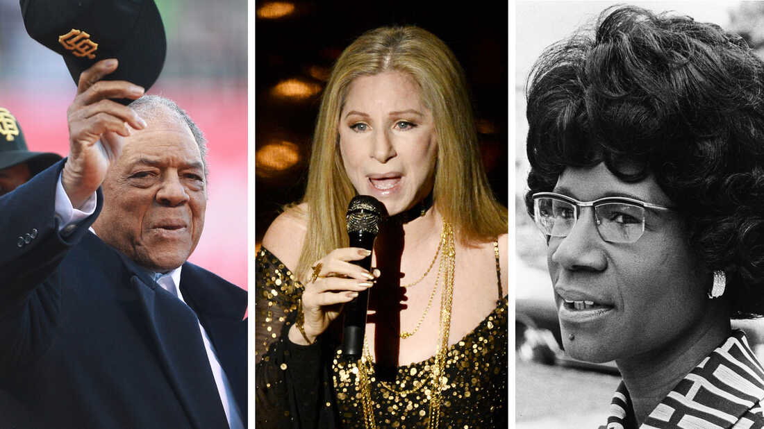 Baseball player Willie Mays, singer Barbra Streisand and politician Shirley Chisholm will all be awarded the Presidential Medal of Freedom this year.