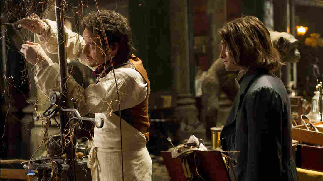 Victor (James McAvoy) and Igor (Daniel Radcliffe) in a scene from Victor Frankenstein.
