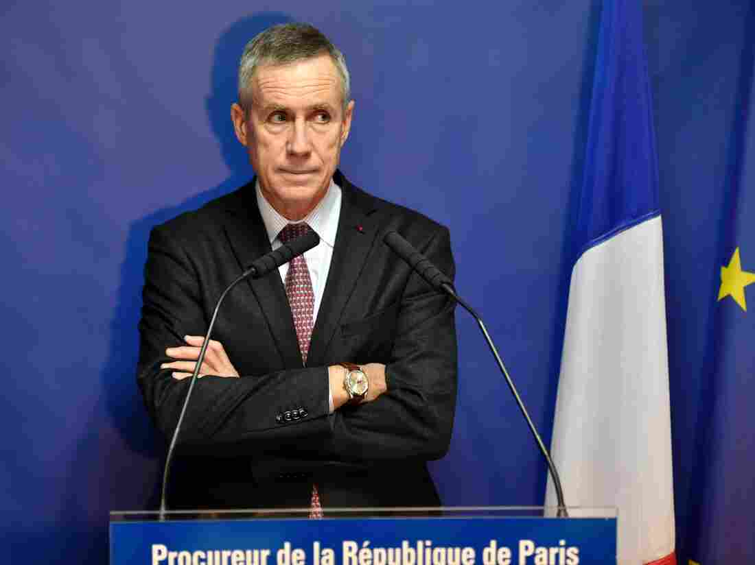 Paris Prosecutor Francois Molins delivers a press conference Tuesday about the Nov. 13 attacks that claimed 130 lives in the French capital.