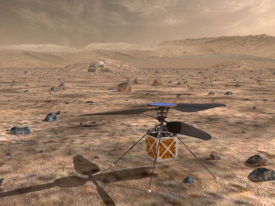 Image for Someday A Helicopter Drone May Fly Over Mars And Help A Rover