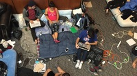 Protesting Racial Bias, Students Trade Placards For Pillows