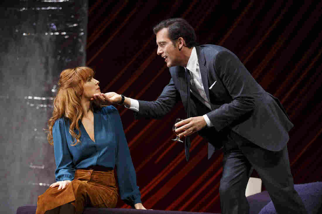 Though the Roundabout Theatre can only pay regional theater rates it's attracted stars like Liam Neeson, Natasha Richardson, Jessica Lange, Jason Robards, Liev Schreiber, and others. Above, Clive Owen and Kelly Reilly star as Deeley and Kate in the Roundabout revival of Old Times.