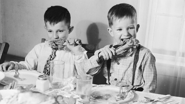 Talking about children and food — two great ways to avoid discussing politics. (Getty Images)