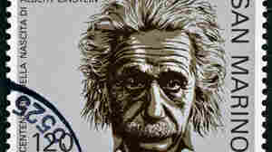 Albert Einstein postage stamp.