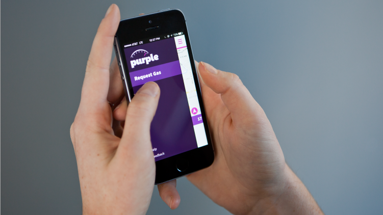 On-demand delivery apps like Purple, which promises a full tank of gas in an hour, are proliferating in the tech market.