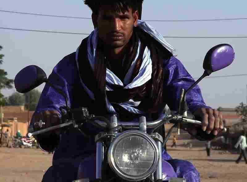 Mdou Moctar is a local star among the Tuareg, based in the city of Agadez. Happily, Prince's iconic purple motorcycle also survived the translation.