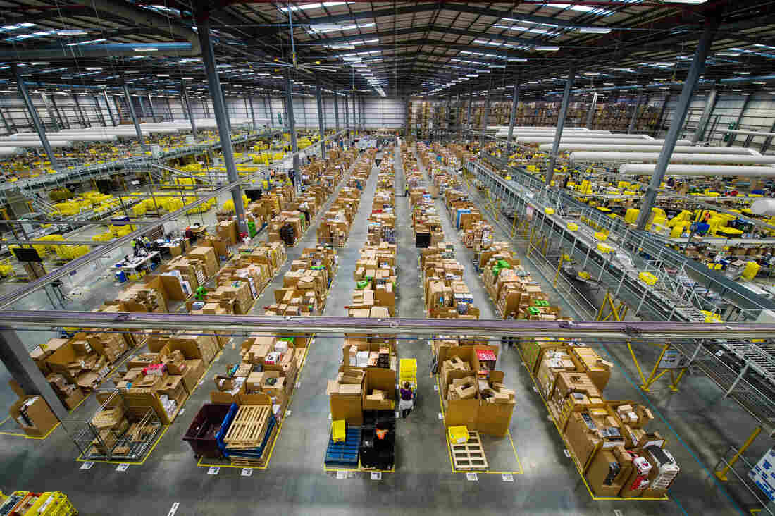 The Amazon Fulfilment Centre prepares for Black Friday this year in Hemel Hempstead, England. Black Friday has now surpassed Cyber Monday as Amazon.co.uk's busiest day.