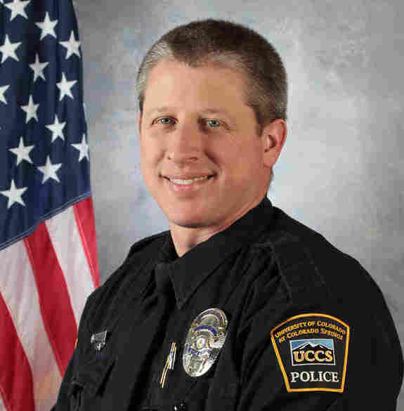 University of Colorado, Colorado Springs police officer Garrett Swasey, 44, was killed in Friday's attack.
