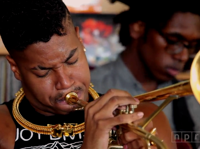 Christian Scott aTunde Adjuah plays a Tiny Desk Concert at NPR.
