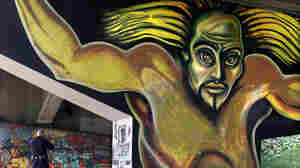 The Graffiti Education and Mural Arts program in San Diego aims to keep kids off the streets — and maybe even make art like this, an example of the famous chicano artists murals found on a series of freeway overpasses, someday.