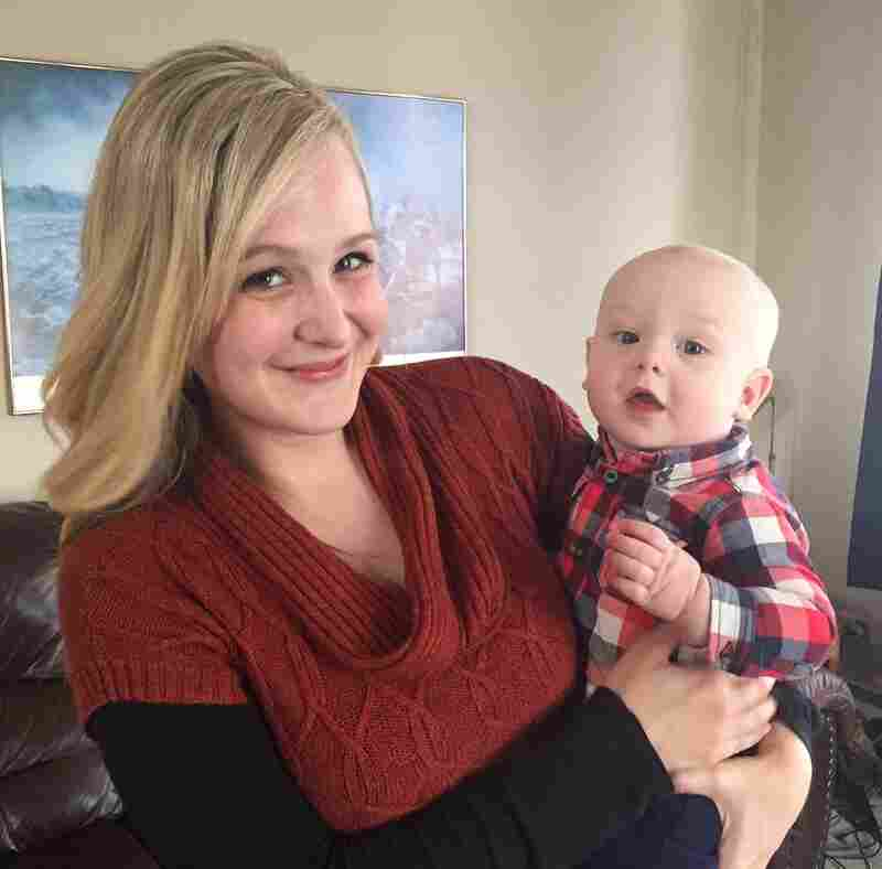 Kelsey Kurtinitis met her husband, Joel, working for Ron Paul's campaign in 2012. They now have a son, Judah, seen with Kelsey in their home in Perry, Iowa. The couple now supports Sen. Ted Cruz.