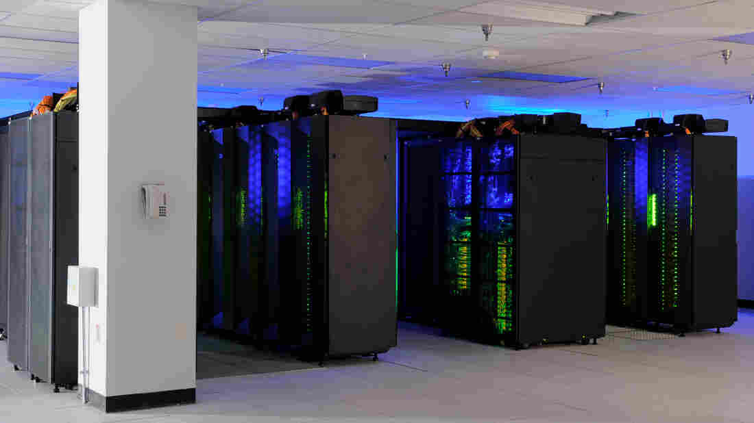 """The heart of NASA Center for Climate Simulation in Maryland is the """"Discover"""" supercomputer. The software programs behind climate simulations typically have 1 million lines of code, or more."""