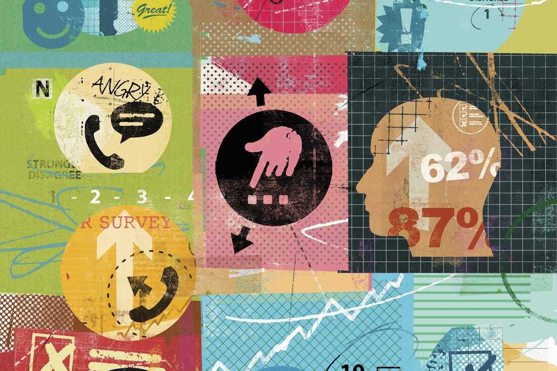 Collage of market research questionnaire surveys