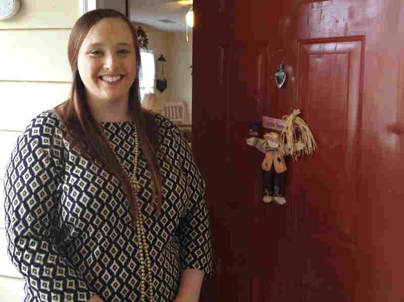 Amy Thompson lives in teacher housing in Hertford County. She's a first-year science teacher in the district.