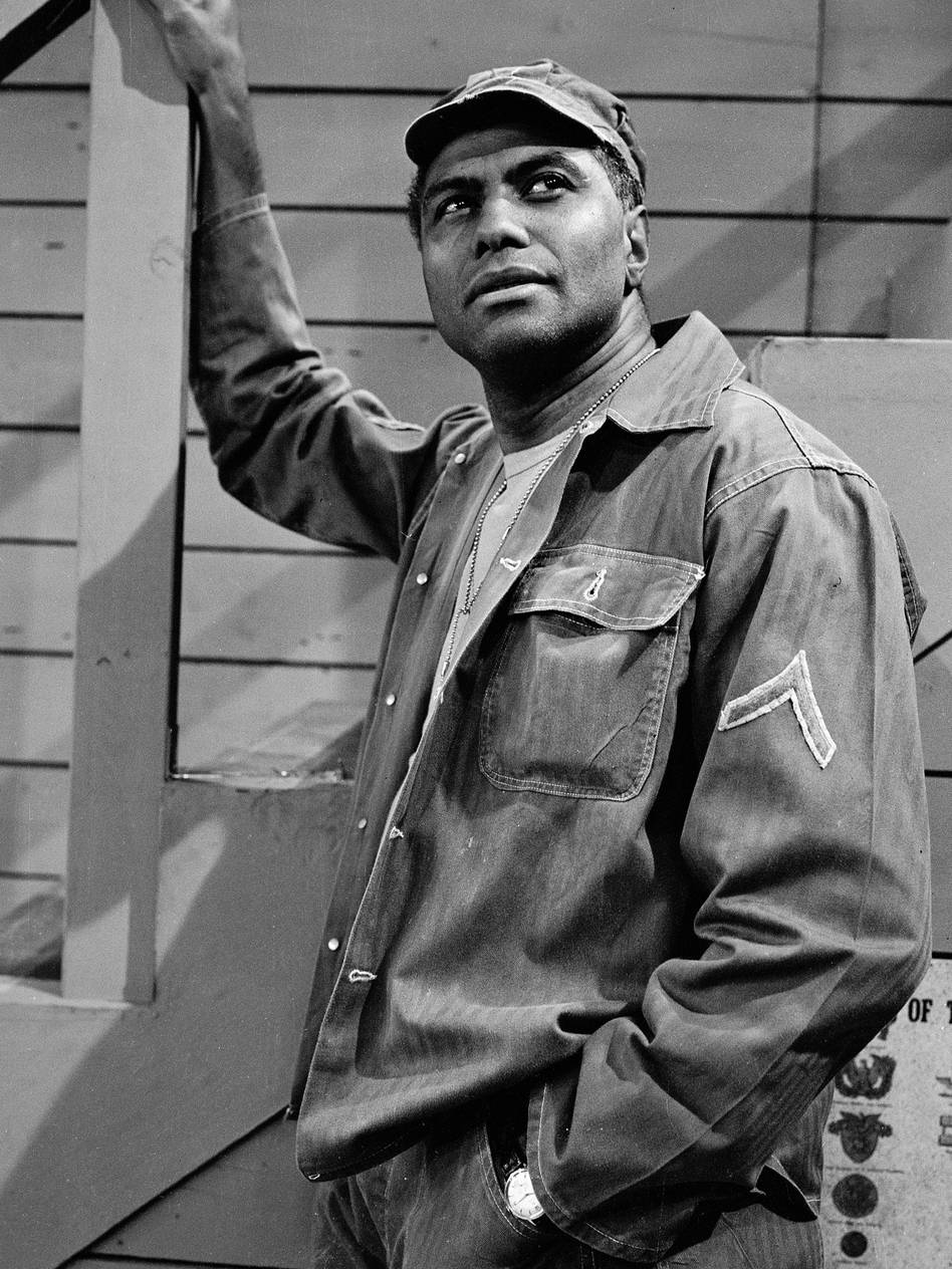 Actor P. Jay Sidney on the set of the television series 'The Phil Silvers Show (You'll Never Get Rich),' on June 11, 1955.