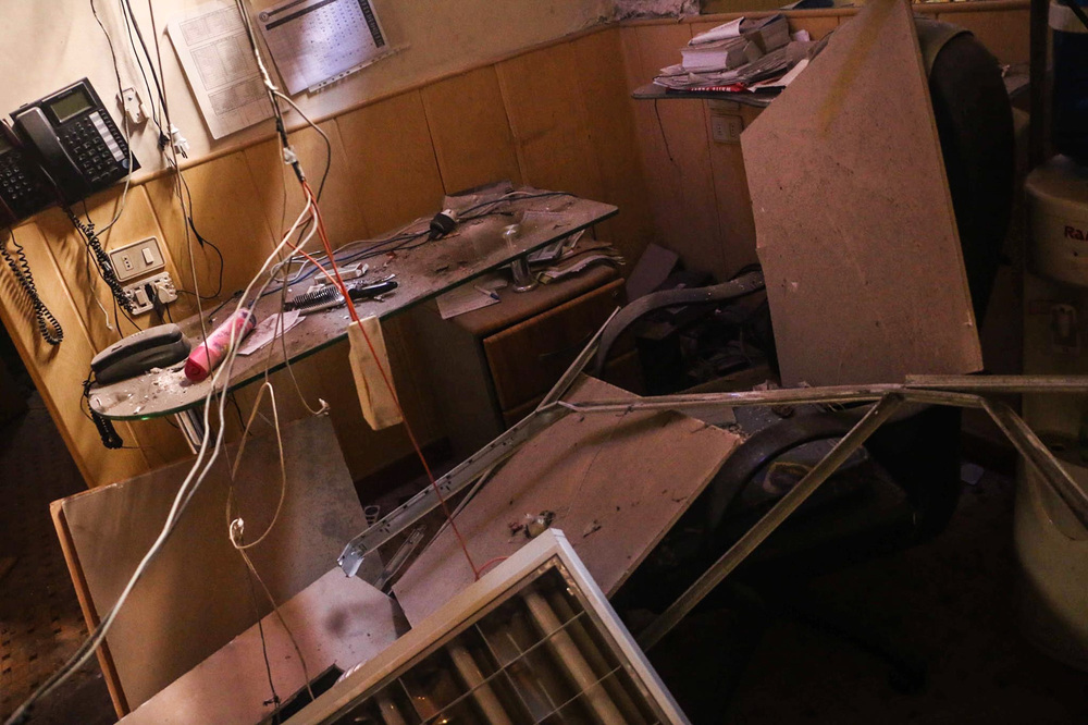 Dr. Majed Aboali's clinic in the opposition-controlled region of East Ghouta was destroyed last October.