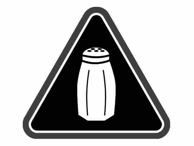 In New York City's chain restaurants, this salt shaker icon will now appear next to menu items containing 2,300 mg or more of sodium — the recommended daily limit.