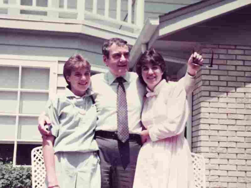 Claudia Anton, with her father, Roger Bessey, and sister, Diana Keough, at their home in 1978. After being diagnosed with AIDS in 1988, Bessey died in 1990.