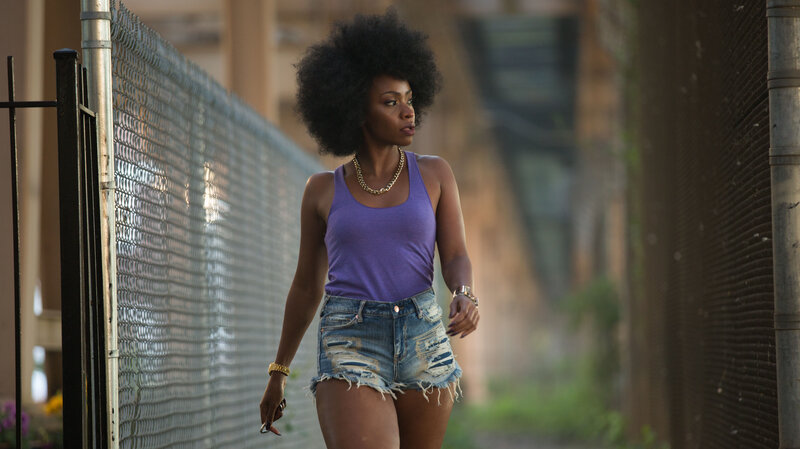 Teyonah Parris as Lysistrata, a Chicago gang leader's girlfriend who rallies women to swear off sex with their men until they end their violence.