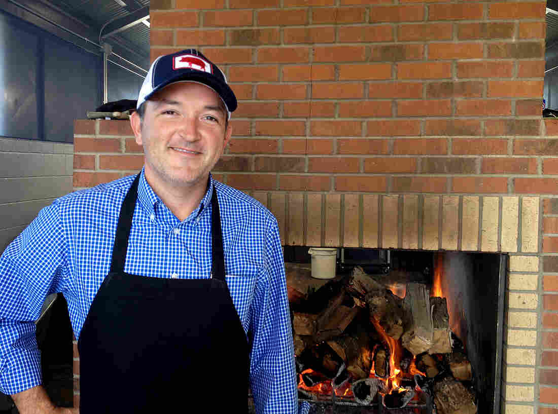 Sam Jones, 34, opened Sam Jones BBQ in Winterville, N.C., in early November. He's part of a trend of young pitmasters embracing all-wood cooking.