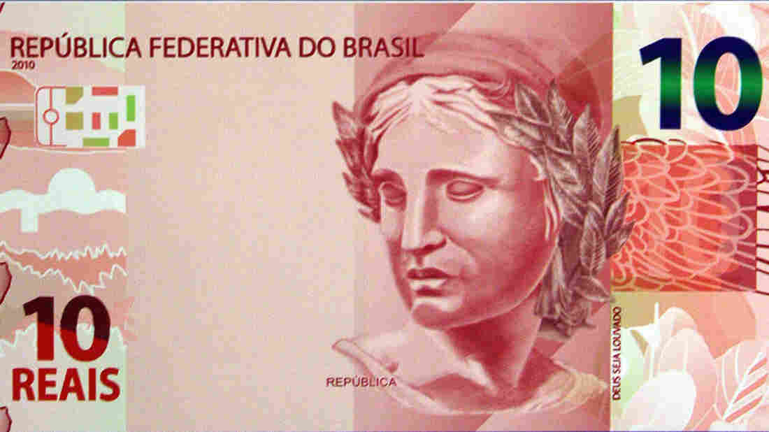 Images of the new noted of the Brazilian currency.