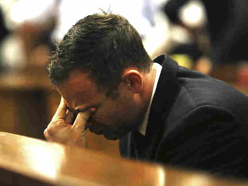 Pistorius, shown here during his trial, was released from prison in October, and has been living with an uncle under house arrest.