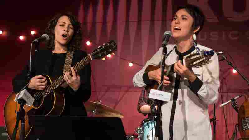 Gaby Moreno and Gina Chavez perform live at KUT's Studio 1A.