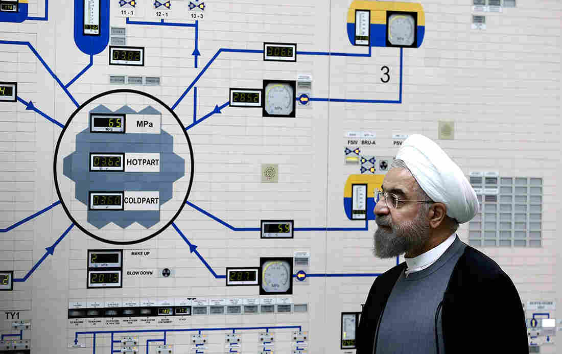 Iran's President Hassan Rouhani visited the Bushehr nuclear power plant in January. Iran has always insisted that its nuclear program is for civilian purposes. But a new report by the International Atomic Energy Agency says that Iran had a nuclear weapons program until 2003.