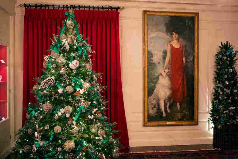 Fashion designer Carolina Herrera decorated the China Room. The portrait is of first lady Grace Coolidge and her dog.