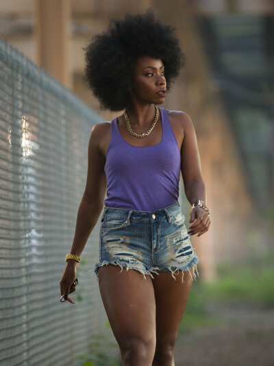 Teyonah Parris plays an updated Lysistrata in Chi-Raq.