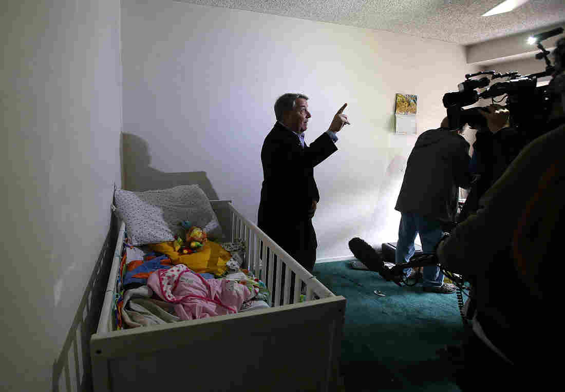 MSNBC's Kerry Sanders does a live broadcast from inside the home.