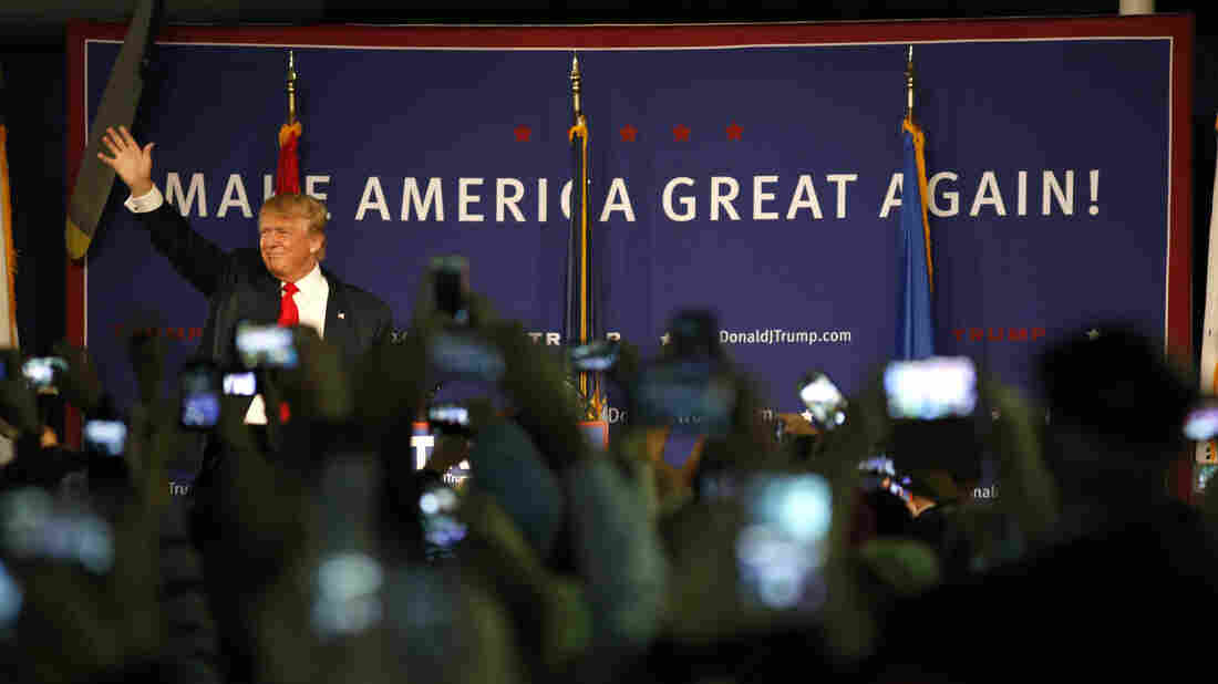After issuing a statement calling for a ban on Muslim immigrants, Donald Trump holds a rally in Mt. Pleasant, S.C., on Monday.